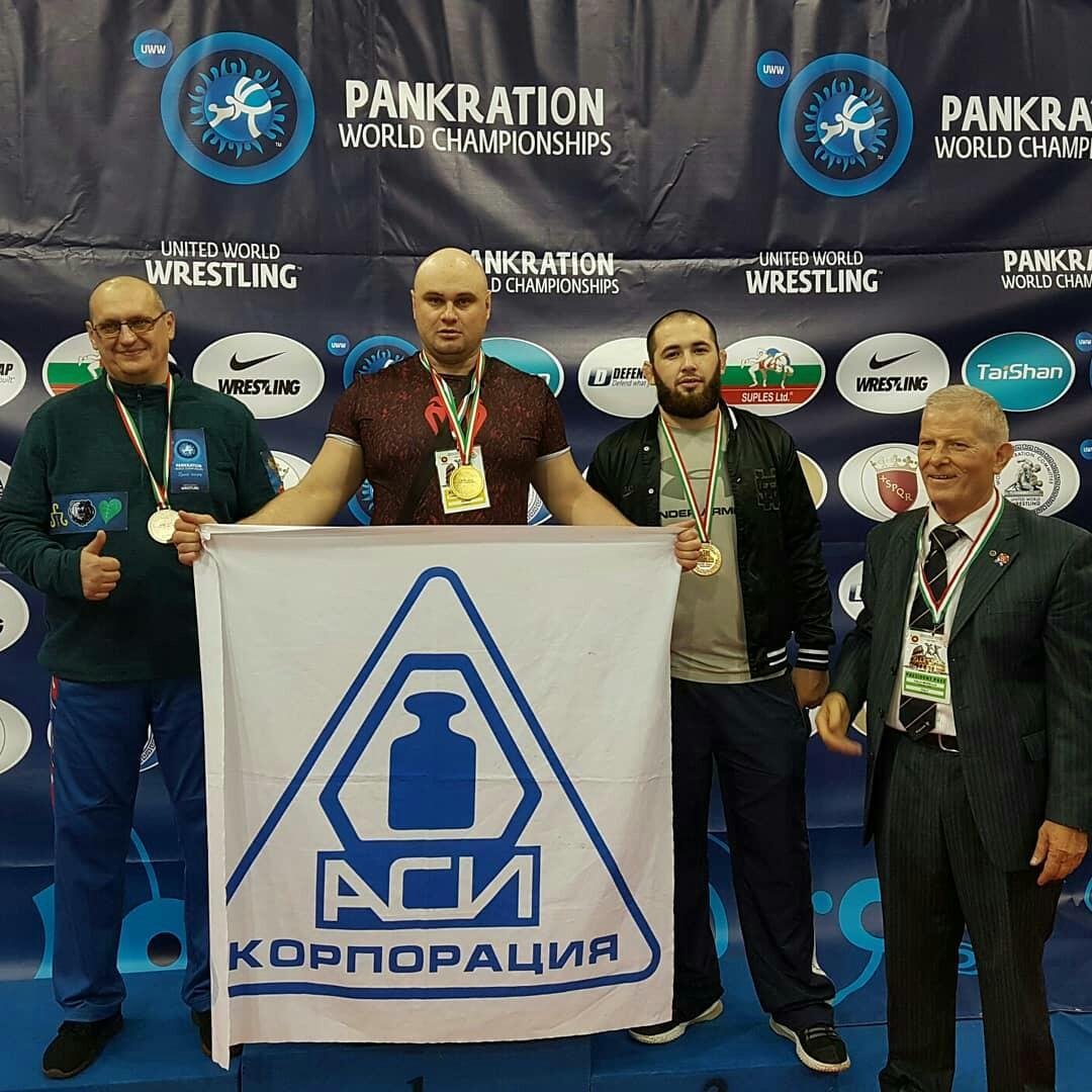 Флаг Корпорации «АСИ» поднял Чемпион мира по панкратиону